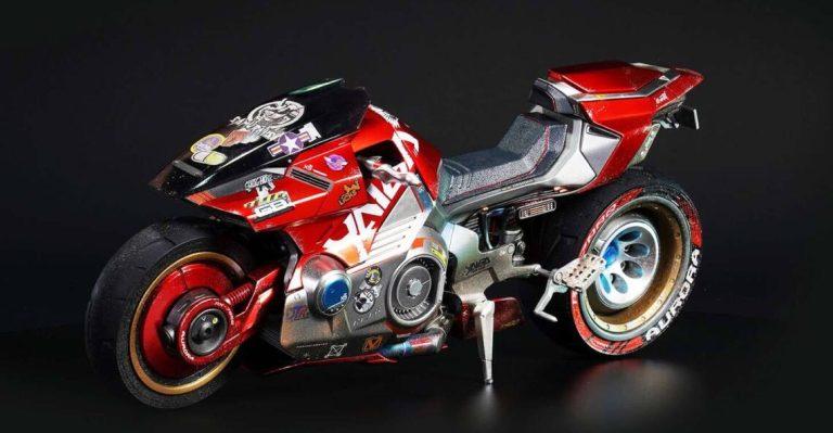 Мотоцикл из игры Киберпанк 2077